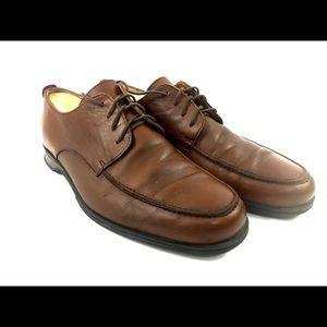 Coach Mens Brown Carleton Leather Shoes Size 10D